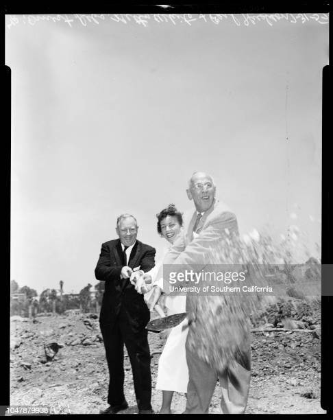 Ground breaking ceremonies at American Broadcasting CompanyTelevision Center 31 July 1957 Ernest Debs Earl J HudsonBetty WhiteSupplementary material...