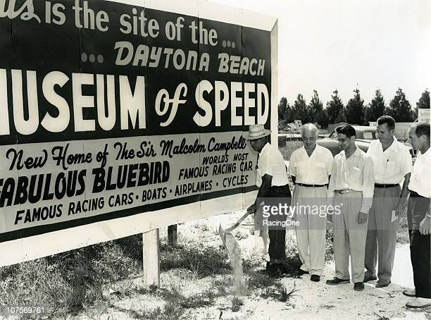 Ground breaking for the thennew Museum of Speed in Daytona Beach FL