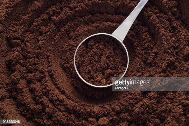ground coffee - ground coffee stock photos and pictures