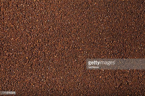 挽いたコーヒー。XXXL
