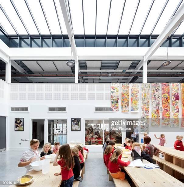 Ground floor dining hall with skylight Plymouth Creative School of Art Plymouth United Kingdom Architect Feilden Clegg Bradley Studios LLP 2015