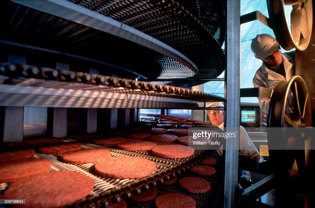 Ground Meat Inspection : Stock Photo