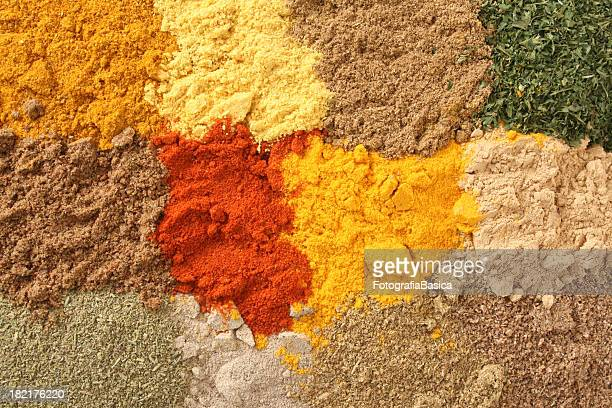 ground spices and herbs - ground culinary stock photos and pictures