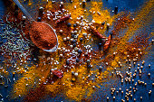 Ground spices background