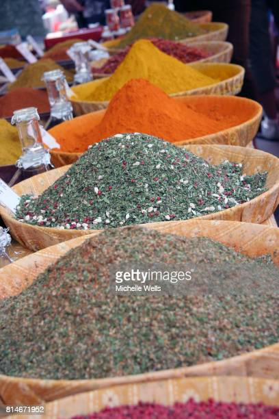 ground spices in trays 3