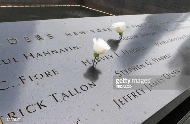 Ground Zero and 9/11 Memorial Manhattan New York NY USA