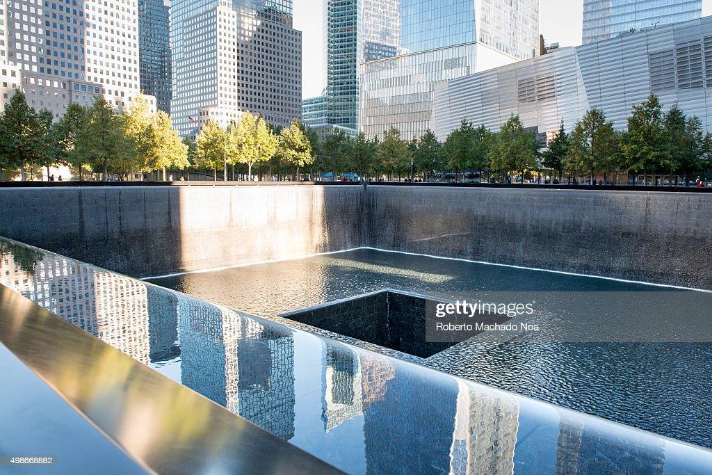 Ground zero memorial or september 11 memorial pool at the - Ground zero pools ...
