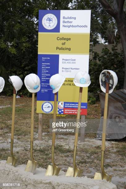 A groundbreaking ceremony at the College of Policing