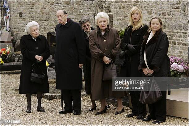Groundbreaking Ceremony Of The Charles De Gaulle Memorial With French President Jacques Chirac And His Wife Bernadette Admiral Philippe De Gaulle And...