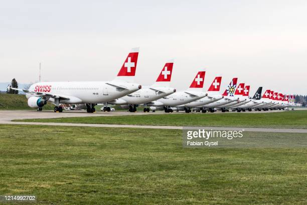 grounded airplanes coronavirus crisis - editorial stock pictures, royalty-free photos & images