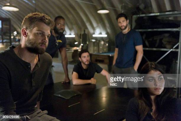 THE BRAVE 'Grounded' Episode 111 Pictured Mike Vogel as Captain Adam Dalton Demetrius Grosse as CPO Ezekiel 'Preach' Carter Hadi Tabbal as Agent Amir...
