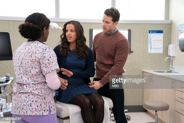 "Grounded"" Episode 202 -- Pictured: Athena Karkanis as Grace Stone, Josh Dallas as Ben Stone --"