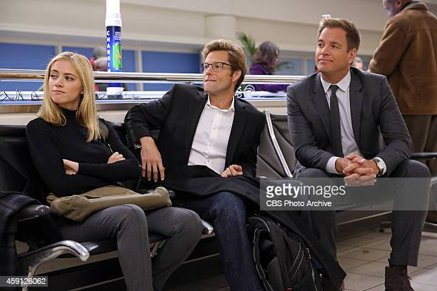 """Grounded"""" -- While stuck at the Dulles airport due to inclement weather, DiNozzo , Bishop and her husband Jake work an NCIS case involving an..."""