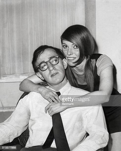 Woody Allen and second wife Louise Lasser shortly after their marriage on Groundhog Day 1966