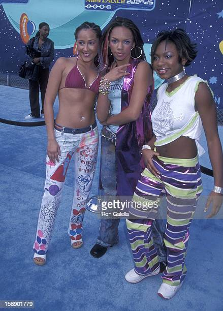 Adrienne Bailon Kiely Williams and Naturi Naughton attend the 14th Annual Nickelodeon's Kids' Choice Awards on April 21 2001 at the Barker Hangar...