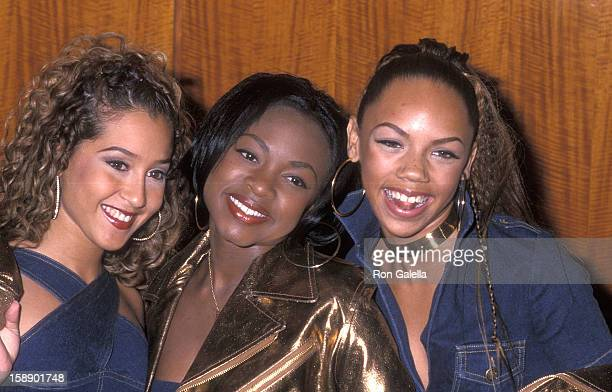Adrienne Bailon Naturi Naughton and Kiely Williams attend the 2000 Michael Awards to Benefit the National Leukemia Foundation on November 27 2000 at...