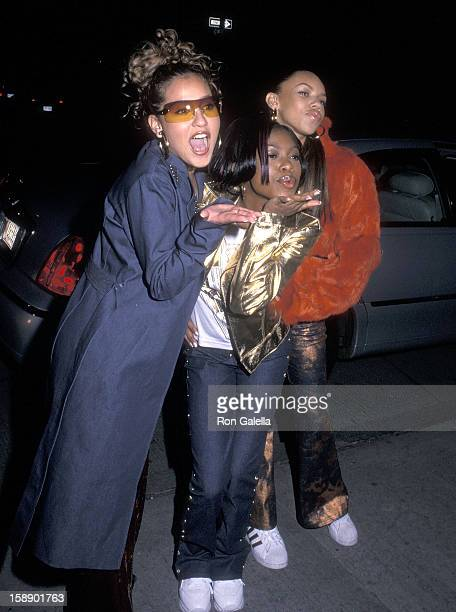 Adrienne Bailon Naturi Naughton and Kiely Williams attend the New York Fall 2001 Fashion Week Sean Combs Fashion Show on February 10 2001 at Bryant...