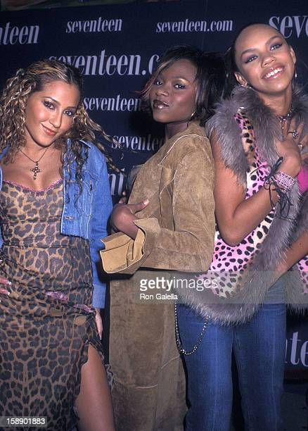 Adrienne Bailon Naturi Naughton and Kiely Williams attend the Seventeen Magazine's Ninth Annual Star Showcase on October 26 2001 at Roseland Ballroom...