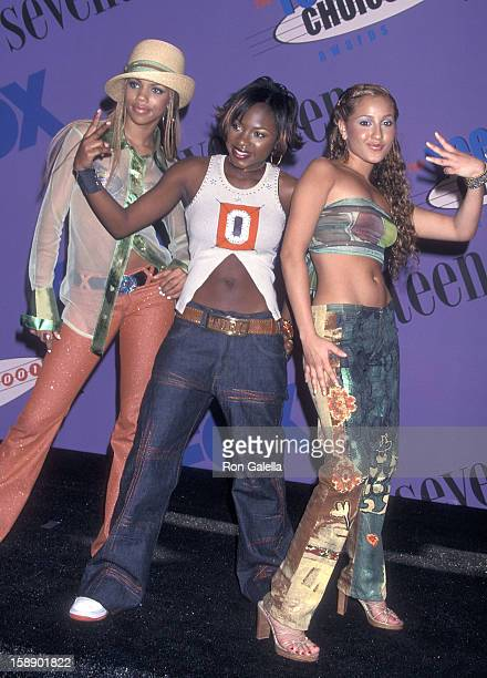 Kiely Williams Naturi Naughton and Adrienne Bailon attend the Third Annual Teen Choice Awards on August 12 2001 at the Universal Amphitheatre in...