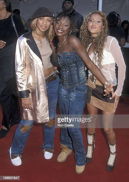 Kiely Williams Naturi Naughton and Adrienne Bailon attend the Seventh Annual Soul Train Lady of Soul Awards on August 28 2001 at the Santa Monica...