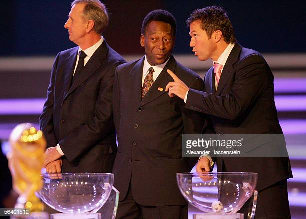 Group A is displayed during the World Cup draw December 9 2005 in Leipzig Germany