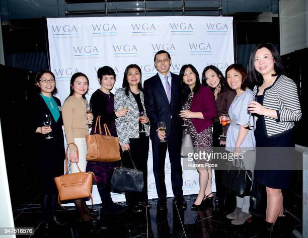 Group at Launch Of New Entity Withers Global Advisors at 432 Park Avenue on April 3 2018 in New York City