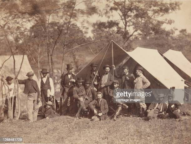 Group at Secret Service Department, Headquarters, Army of the Potomac, Antietam, October 1862, 1862. Artist Alexander Gardner.