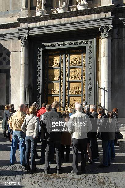 Group at the Baptistry Doors, Florence