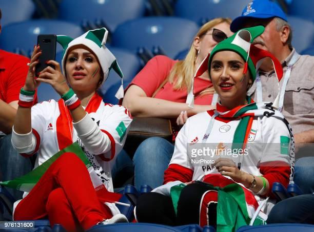 Group B Morocco v IR Iran FIFA World Cup Russia 2018 Iran supporters during the 2018 FIFA World Cup Russia group B match between Morocco and IR Iran...