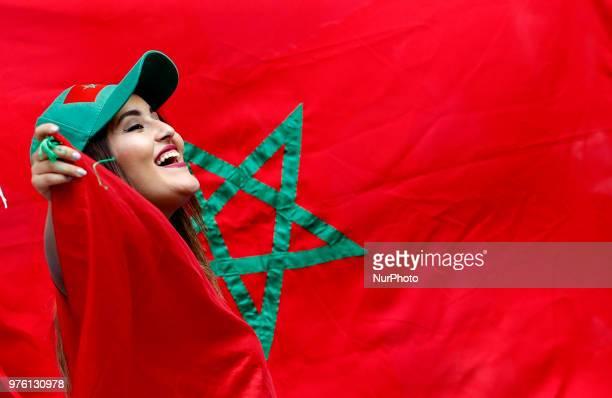 Group B Morocco v IR Iran FIFA World Cup Russia 2018 Morocco supporters during the 2018 FIFA World Cup Russia group B match between Morocco and IR...