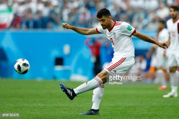 Group B Morocco v IR Iran FIFA World Cup Russia 2018 Morteza Pouraliganji during the 2018 FIFA World Cup Russia group B match between Morocco and IR...