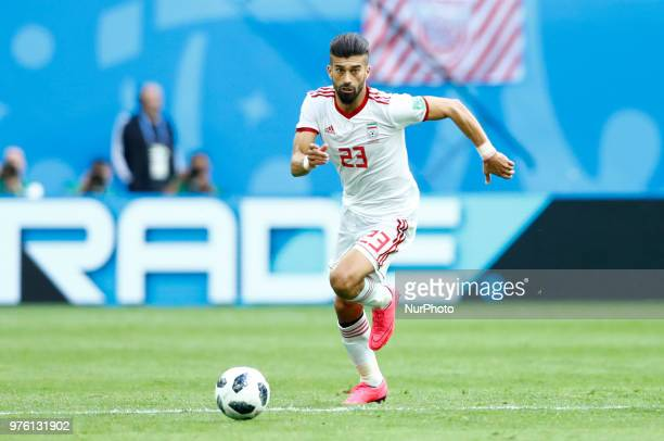 Group B Morocco v IR Iran FIFA World Cup Russia 2018 Ramin Rezaeian during the 2018 FIFA World Cup Russia group B match between Morocco and IR Iran...
