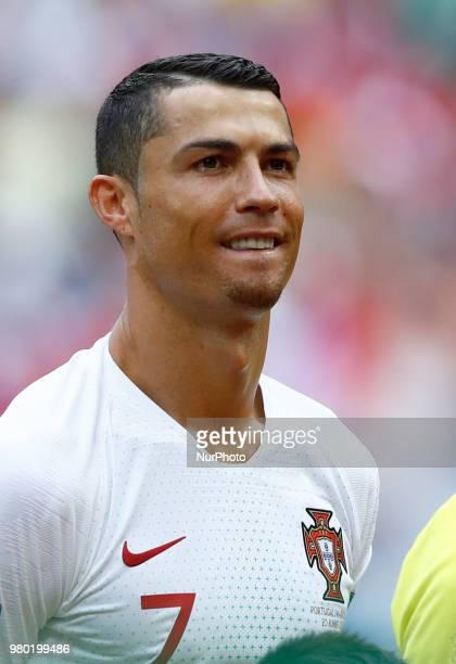 Group B Portugal v Morocco FIFA World Cup Russia 2018 Cristiano Ronaldo at Luzhniki Stadium in Moscow Russia on June 20 2018