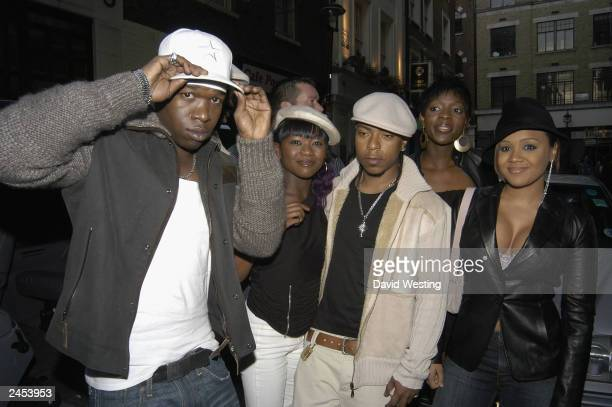 Group Big Brovaz arrive for the MOBO Nominess event at Tantra Club on September 1 2003 in London