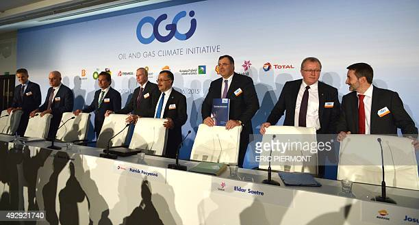 BG Group CEO Helge Lund Eni CEO Claudio Descalzi Pemex CEO Emilio Lozoya BP CEO Bob Dudley Saudi Aramco CEO Amin Nasser Total CEO Patrick Pouyanne...
