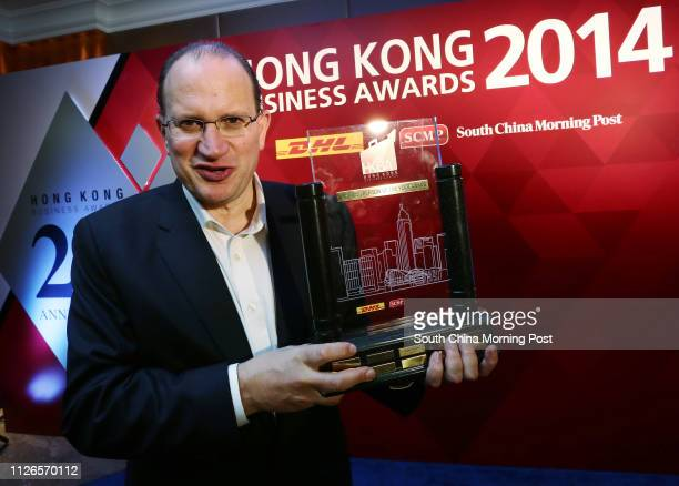 AIA Group Chief Executive and President Mark Tucker attends DHL/SCMP Hong Kong Business Awards 2014 presentation at JW Marriott Hotel in Admiralty...