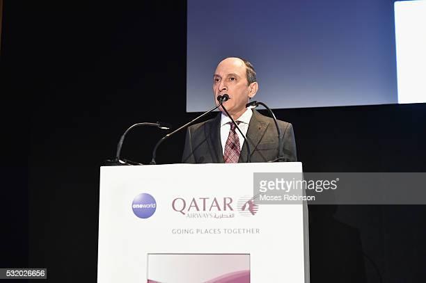 Group Chief Executive Qtar Airways HE Akbar Al Baker attends at Qatar Airways Gala at the Fox Theatre on May 17 2016 in Atlanta Georgia