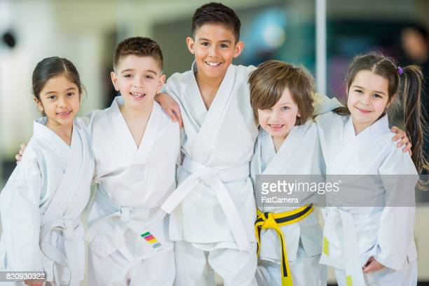 group class - martial arts stock pictures, royalty-free photos & images