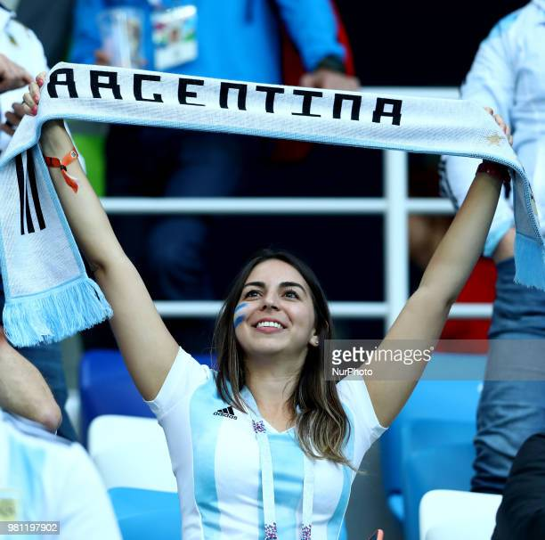 Group D Argentina v Croazia FIFA World Cup Russia 2018 Argentina supporters at Nizhny Novgorod Stadium Russia on June 21 2018