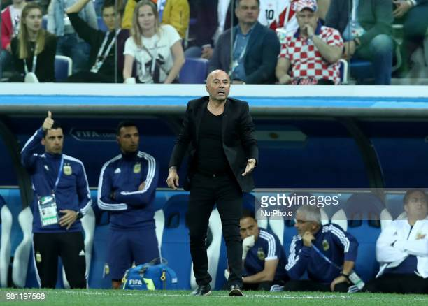 Group D Argentina v Croazia FIFA World Cup Russia 2018 Argentina coach Jorge Sampaoli at Nizhny Novgorod Stadium Russia on June 21 2018