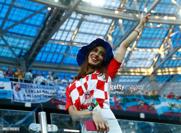 Group D Argentina v Croazia FIFA World Cup Russia 2018 Croatia supporter at Nizhny Novgorod Stadium Russia on June 21 2018