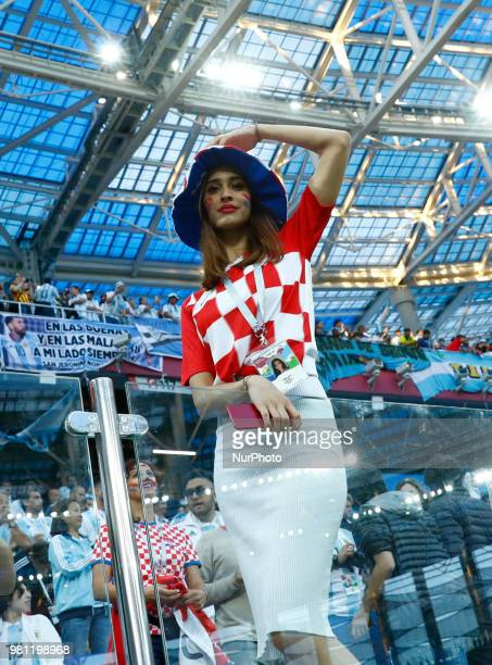 Group D Argentina v Croazia FIFA World Cup Russia 2018 Croatia supporters at Nizhny Novgorod Stadium Russia on June 21 2018