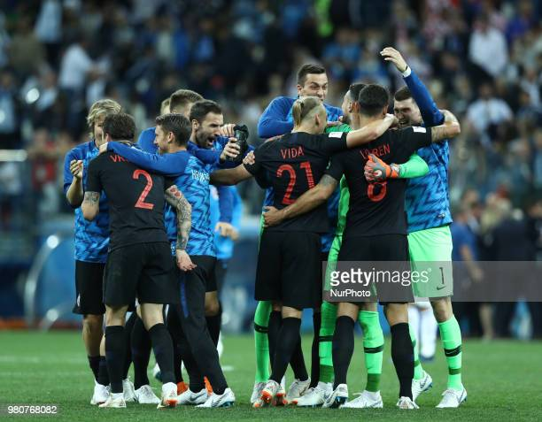 Group D Argentina v Croazia FIFA World Cup Russia 2018 Croatia celebrates the victory at Nizhny Novgorod Stadium Russia on June 21 2018