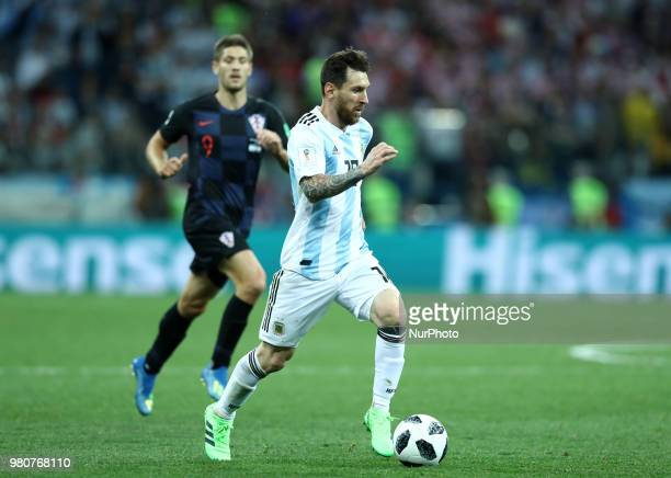 Group D Argentina v Croazia FIFA World Cup Russia 2018 Lionel Messi at Nizhny Novgorod Stadium Russia on June 21 2018