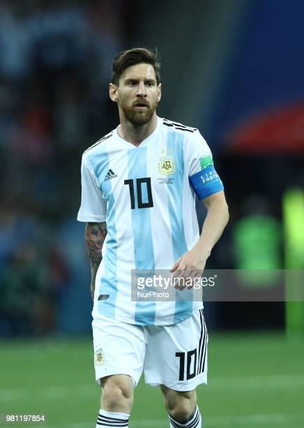 Group D Argentina v Croazia - FIFA World Cup Russia 2018 Lionel Messi at Nizhny Novgorod Stadium, Russia on June 21, 2018.