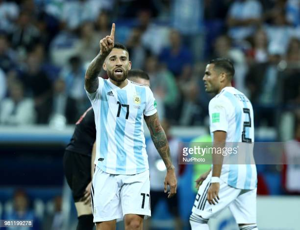 Group D Argentina v Croazia FIFA World Cup Russia 2018 Nicolas Otamendi at Nizhny Novgorod Stadium Russia on June 21 2018