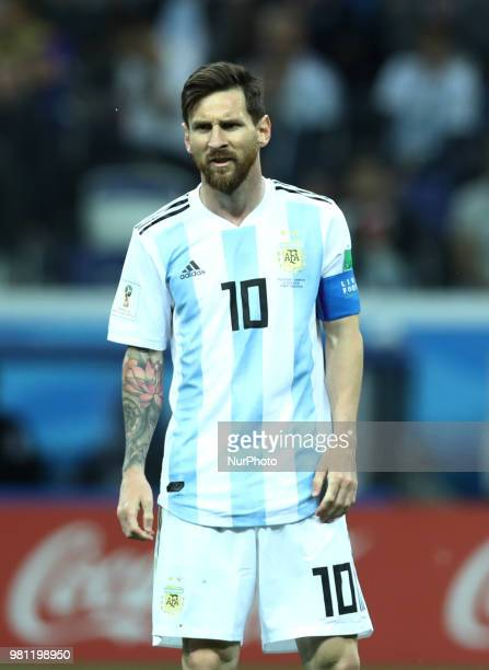 Group D Argentina v Croazia - FIFA World Cup Russia 2018 The disappointment of Lionel Messi at Nizhny Novgorod Stadium, Russia on June 21, 2018.