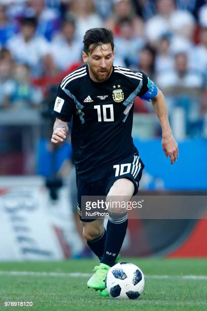 Group D Argetnina v Iceland FIFA World Cup Russia 2018 Lionel Messi at Spartak Stadium in Moscow Russia on June 16 2018