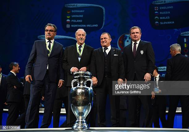Group D managers Ante Cacic Manager of Croatia Vicente del Bosque Manager of Spain Fatih Terim Manager of Turkey and Pavel Vrba Manager of the Czech...