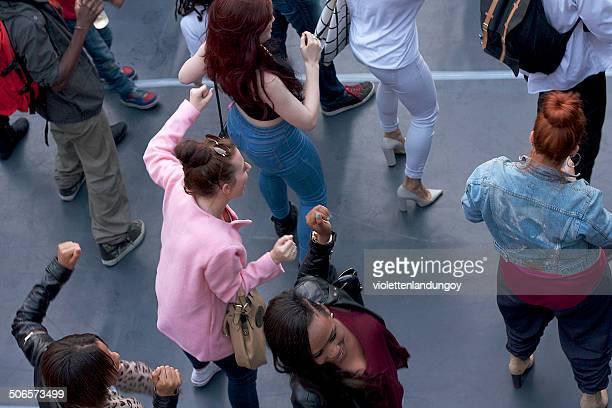 gruppo di danza - flash mob foto e immagini stock